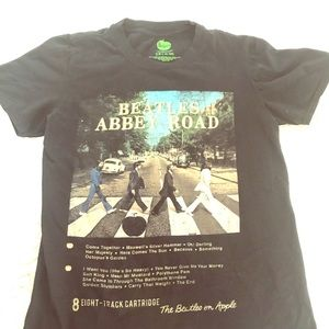 Beatles Abbey Road 8 track cover fitted black tee!